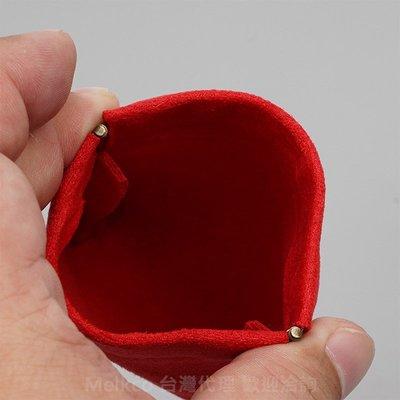 GooMea 2免運 Vivo Y81 Y81s Y91 雙層絨布 收納袋彈片開口 紅色 金飾耳環吊飾鑰匙生活萬用小包
