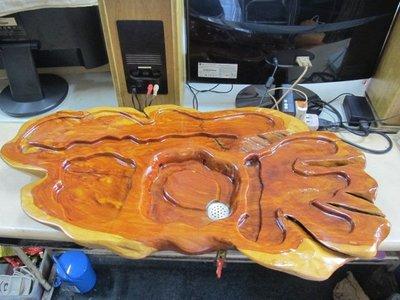 二手舖 NO.3645 龍柏天然原木 茶盤 居家擺飾.實木茶盤 樹瘤 自然雕刻品 檜木 肖楠 樟木 老杉