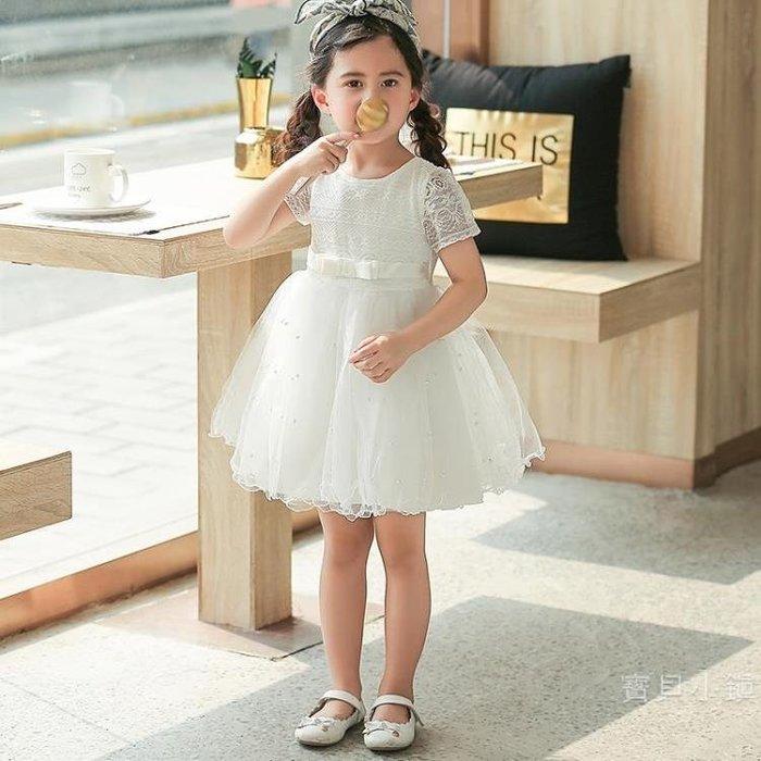 女童裙子2019新品夏裝兒童連身裙洋氣公主裙六一兒童節蓬蓬紗裙潮BBXZ17817