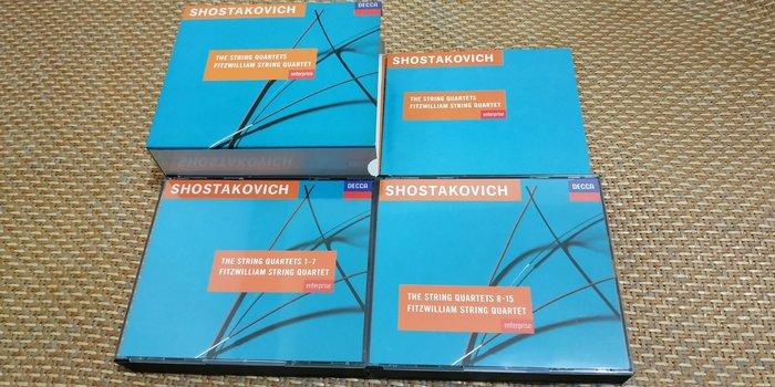 好音悅 半銀圈 Fitzwilliam String Quartet 蕭士塔高維契 弦樂四重奏全集 6CD DECCA