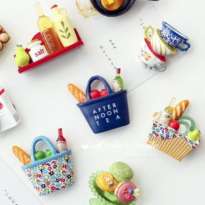 [ Atelier Smile ] 鄉村雜貨 立體造型冰箱貼 / 午茶系列 / 限量版 / 吸力超強  (現+預)