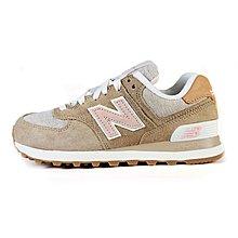 D-BOX  NEW BALANCE 574 ML574BSL 慢跑鞋 皮革 運動 卡其 女鞋