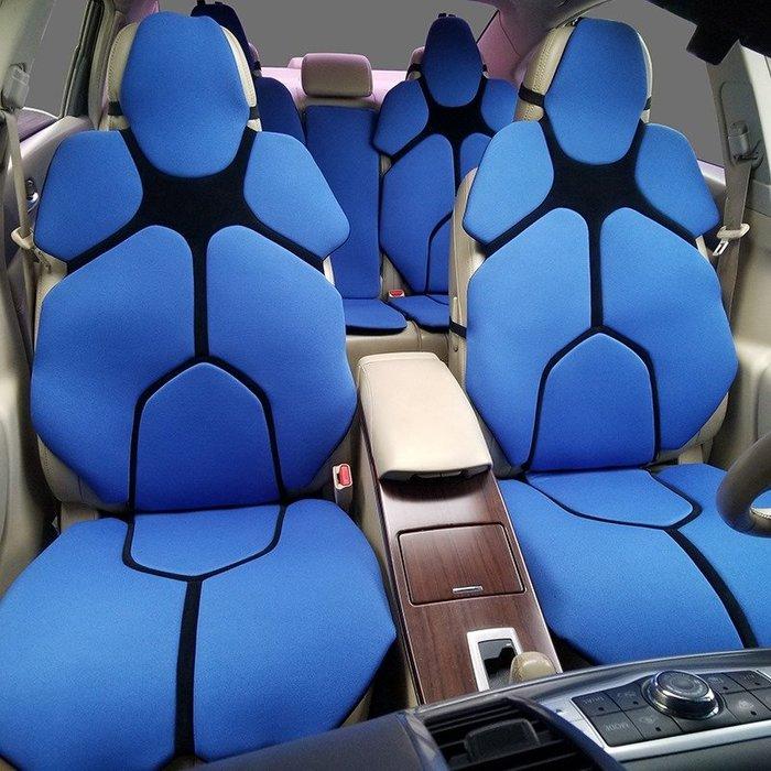 透氣冰絲網布汽車坐墊四季通用新款車墊套內飾用品(5人座)