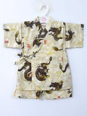 ✪胖達屋日貨✪褲款 120cm 米底 龍神 印章 雷電 日本 男 寶寶 兒童 和服 浴衣 甚平 抓周 收涎 攝影