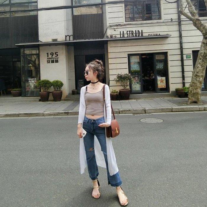 ☜男神閣☞2018夏新款歐美時尚修身百搭螺紋短款小吊帶背心女學生打底吊帶衫