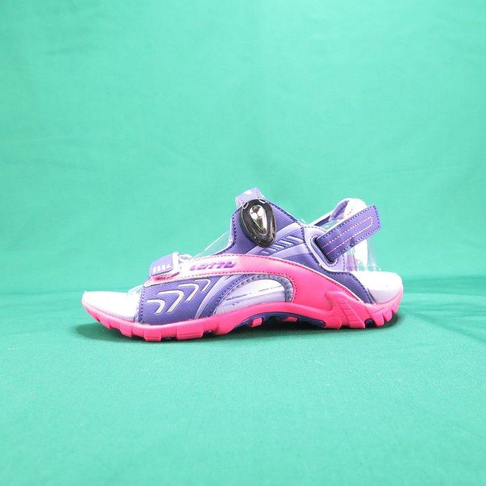 【iSport愛運動】LOTTO 排水磁扣涼鞋 LT9AKS0507 男女款 紫粉 後帶可拆卸 涼拖兩穿 夜間反光功能