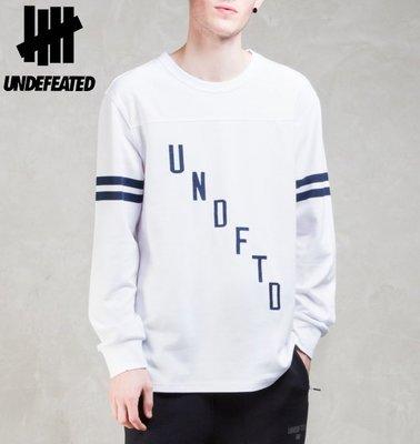 【超搶手】全新正品 新款 UNDEFEATED FLANKER L/SL TEE 球衣長袖T 白色 S M
