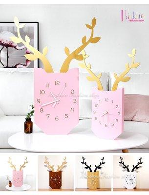 ☆[Hankaro]☆ 小清新簡約北歐風麋鹿造型掛鐘(小尺寸款)