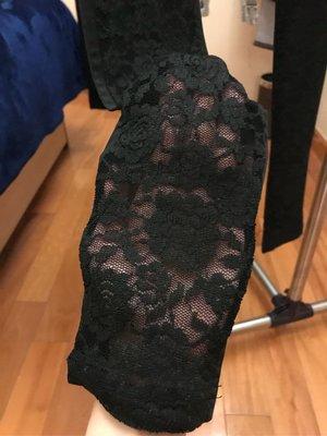 黑色lace leggings 前面是lace後面正常黑色lycra料 sexy 可當絲襪