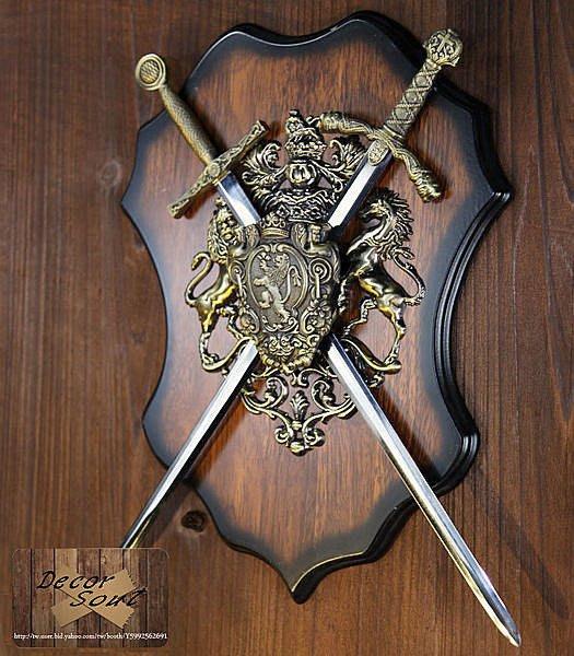 DS北歐家飾§ loft工業風 古羅馬盾牌寶劍壁飾掛飾 玄關壁掛 仿舊復古美式鄉村 中世紀帝國