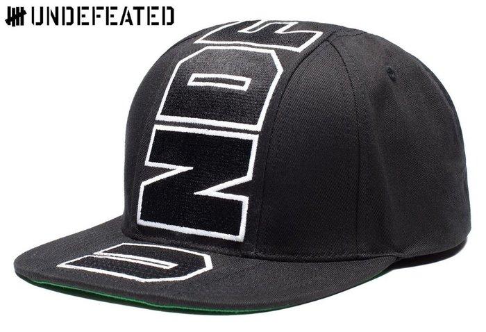 【超搶手】 全新正品 最新 UNDEFEATED CENTER SNAPBACK CAP UNDFTD字體 棒球帽 黑色