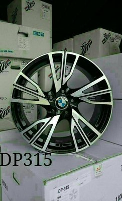 D18111610 全新 DP315 鋁圈 18吋5孔120 BMW E46/E90/F10/F30/X3/X5 黑車面