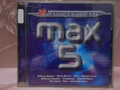 【采葳音樂網】-西洋CD–19 OF TODAY'S BIGGEST HITS〝MAX 5〞A5