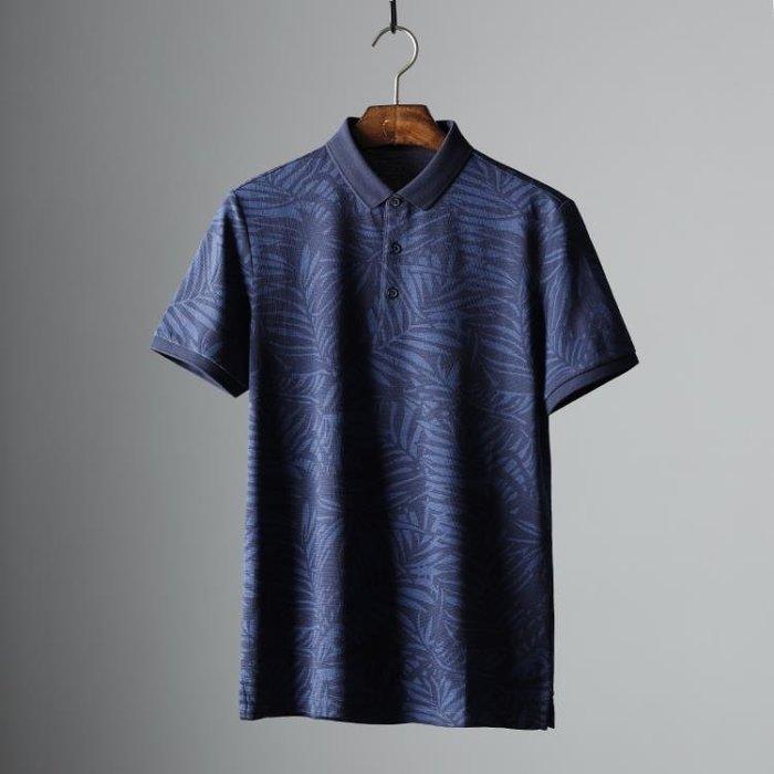 今年的新款 翻領短袖T恤男2020夏季新款全棉時尚百搭印花polo衫 8%百分吧