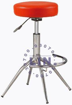 【品特優家具倉儲】R929-11吧台椅洽談椅厚墊6公分電鍍俏麗吧台椅
