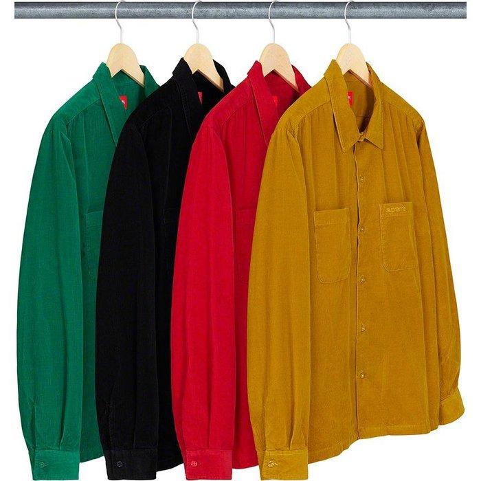 【紐約范特西】預購Supreme FW19 Corduroy Shirt 工作襯衫 長袖襯衫