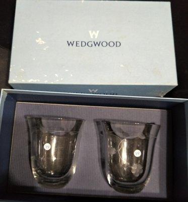 全新 早期收藏WEDGWOOD Wild Strawberry Crystal Pair野草莓水晶系列對杯