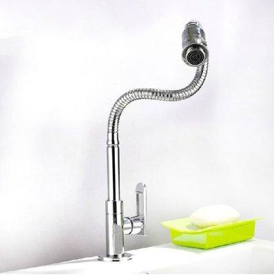 【安和潔具】純銅 鍍鉻 廚房 單冷 萬向 水龍頭 H-765(免運費)