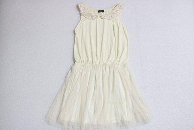 [SC-089] 日本 MOUTH valley 無袖洋裝 米白色