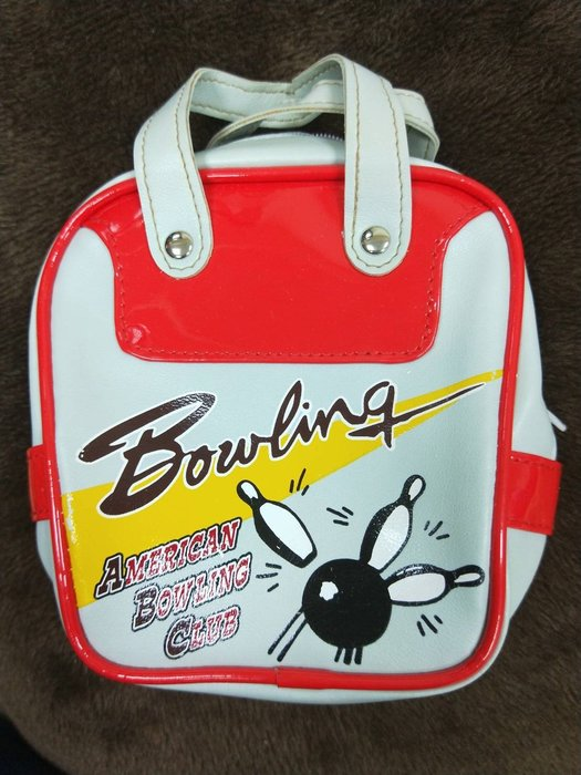 特價品 卡通 Bowling 化妝包 收納袋 購物袋 手提包 可提式 拉鏈款  可面交