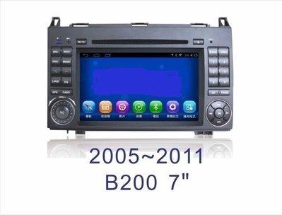 大新竹汽車影音 BENZ 05-11 B200 專用安卓機 7吋螢幕 台灣設計組裝 系統穩定順暢