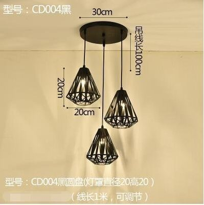 【新視界生活館】CD004黑圓盤款北歐餐廳吊燈創意個性餐廳燈飯廳燈現代鐵藝XSJ❤818321
