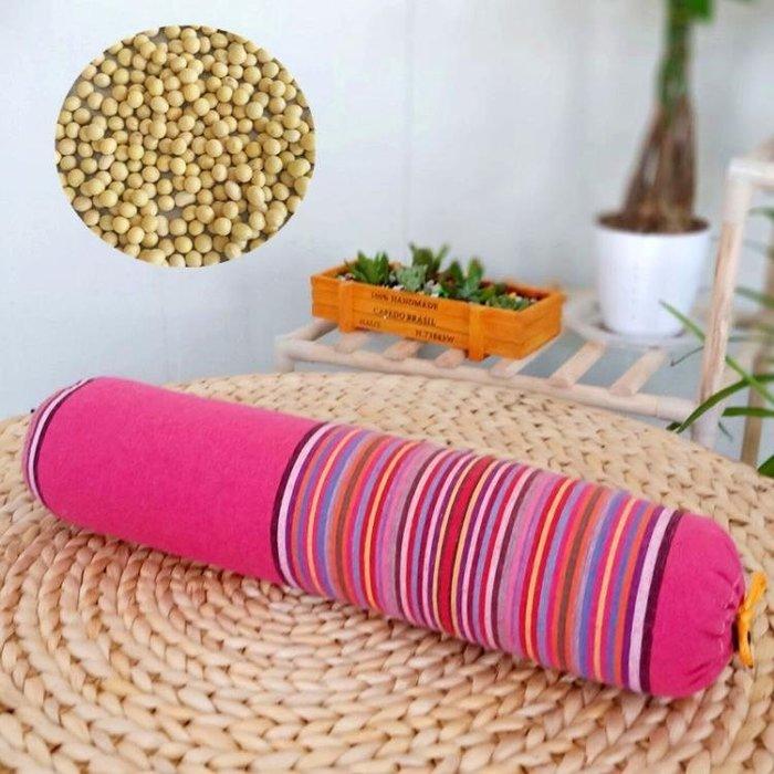 〖免運〗黃豆頸椎枕頭糖果豌豆枕護頸 圓柱枕頭蕎麥皮 『比比熊』