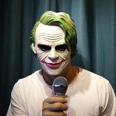蝙蝠俠小丑面具 男 恐怖舞會cos裝扮萬聖節黑暗騎士電影樹脂面具