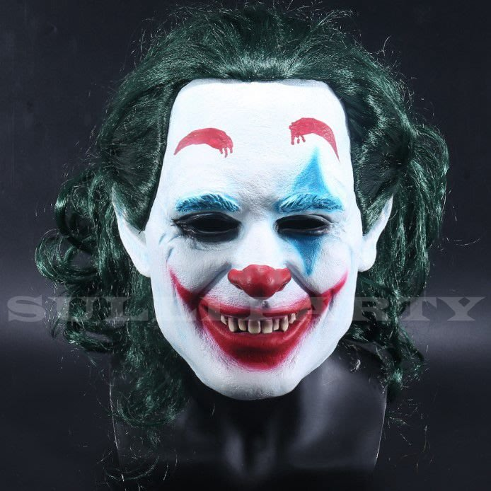 雪莉派對~Joker小丑面具 萬聖節乳膠面具 變裝派對 蝙蝠俠 2019小丑 高譚市 DC反派小丑 瓦昆 傑克