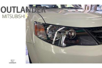小傑車燈精品--全新 三菱 OUTLANDER 08 09 10 年 黑框黃角 原廠型 頭燈 大燈