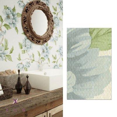 【夏法羅 窗藝】日本進口 華麗 花朵繪畫 仿水彩風 花卉圖案 壁紙 BB_113233