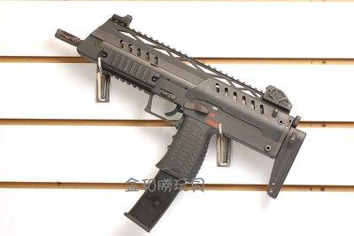 JHS((金和勝 生存遊戲專賣))WE 黑色 SMG-8 (仿MP7) 瓦斯衝鋒槍 6008