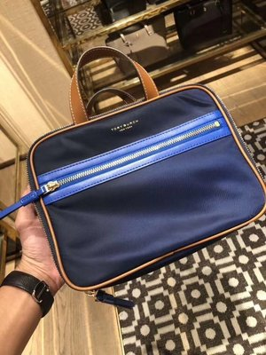 ╭☆包媽子店☆TORY BURCH  PERRY NYLON WEEKENDER COSMETIC CASE 化裝包