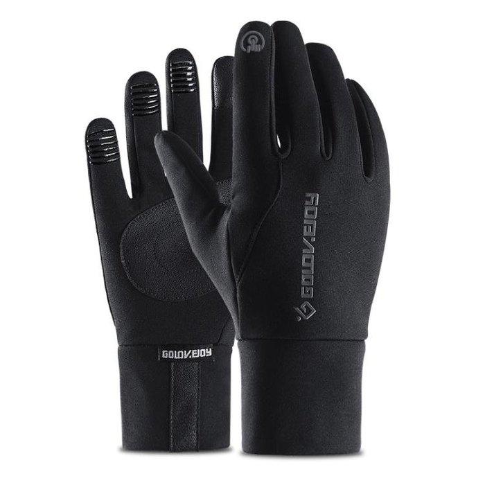 手套男 戶外運動手套 冬季保暖騎行防風男女觸屏加絨防滑防水全指騎行手套yx705