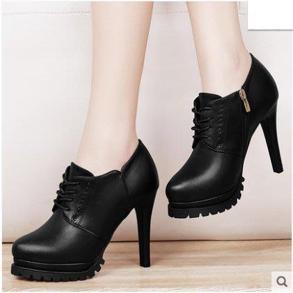 =WHITY=韓國FUPA品牌 韓國製  高跟牛津鞋美腿顯瘦軟皮新款四季百搭小圓頭美腿好穿真皮S7CS797