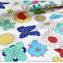 ✿小布物曲✿手繪花朵 100%純棉印花布(厚) 窄幅110CM 韓國直送質感優 單價/尺