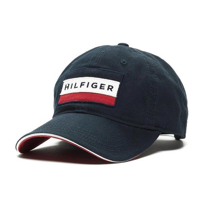 美國百分百【Tommy Hilfiger】帽子 TH  配件 棒球帽 遮陽帽 鴨舌帽 經典 LOGO 深藍 H497