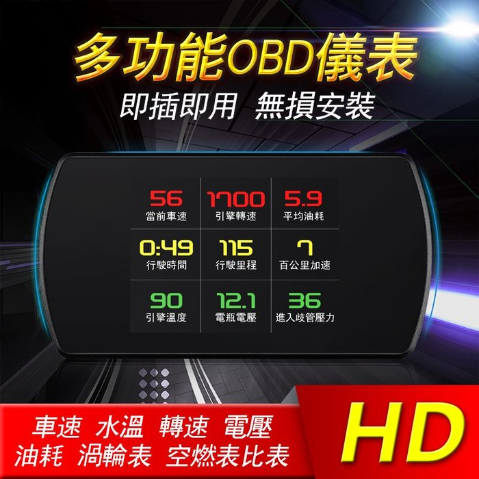 附發票 抬頭顯示器  液晶抬頭顯示器 HUD OBD2 OBDII 汽車 顯示器 行車電腦 測水溫 電壓 油耗 時速等等
