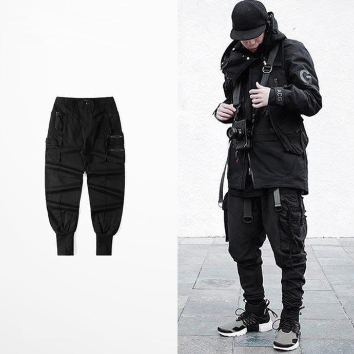 【NoComment】美式休閒 街頭潮流 暗黑工裝運動休閒褲 Nike supreme