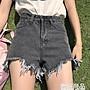 夏季新款百搭毛邊水洗休閒牛仔短褲子高腰顯...