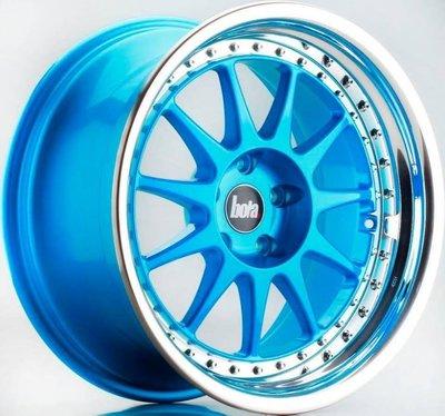 英國新銳品牌 BOLA B4 17吋鋁圈 糖果藍 5孔100 4孔100 4孔114.3 5孔114.3