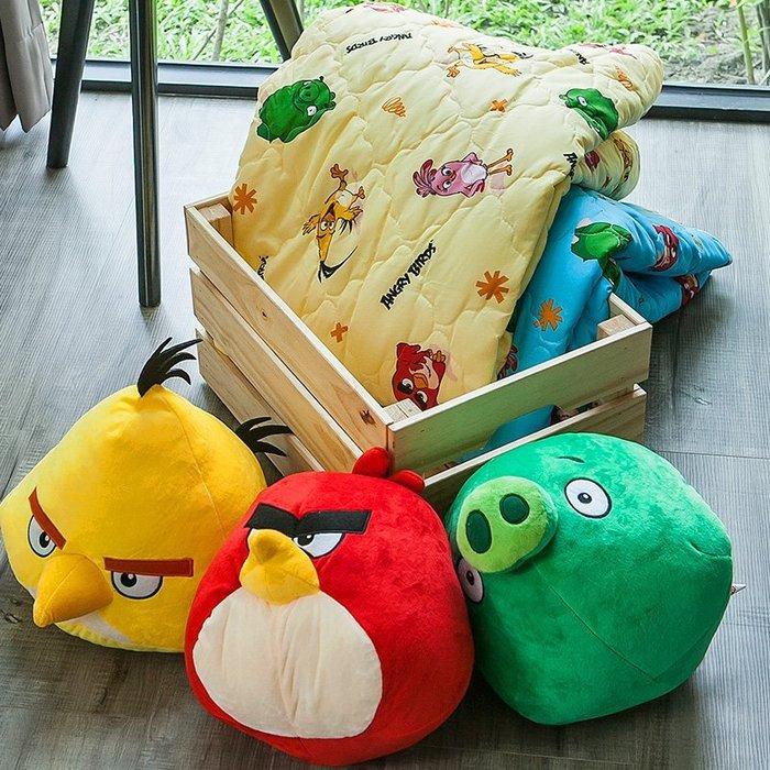 涼被 / 雙人【憤怒鳥-兩色可選】5x6尺,可愛卡通Angry Birds,磨毛工法,戀家小舖台灣製
