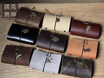 ☜男神閣☞名片夾 皮質卡包男士多卡位名片夾 頭層皮質卡包女式信用卡套 純手工復古