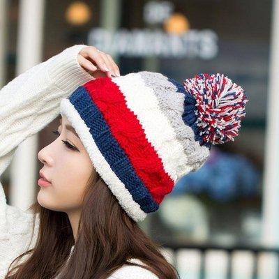 女士帽子韓版潮保暖護耳毛線帽韓版休閒可愛針織帽加絨帽