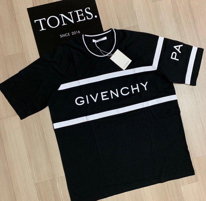 【TONES.】Givenchy 19SS 拼接設計 基本款Logo 短TEE