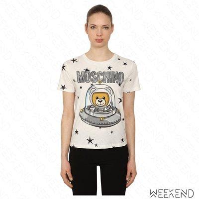 【WEEKEND】 MOSCHINO UFO Spaceship 星星 短袖 T恤 白色 18秋冬
