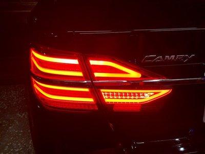新店【阿勇的店】CAMRY15~18  7.5代LED光導版全LED尾燈 賓士型 W205 camry 尾燈 方向燈流水