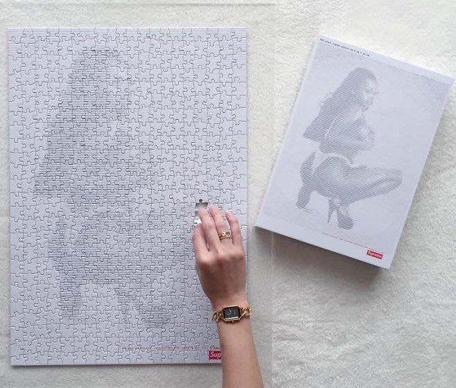 【超搶手】全新正品 2017 SS Supreme Digi Jigsaw Puzzle 裸女 擺飾 拼圖  500片