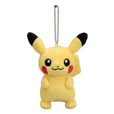【皮卡丘 娃娃吊飾】寶可夢 pokemon 皮卡丘 吊飾娃娃 包包吊飾 該該貝比日本精品 ☆