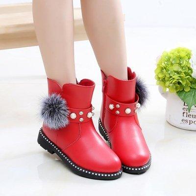 春秋女童馬丁靴子冬季新款短靴單寶寶中大童韓版兒童冬靴